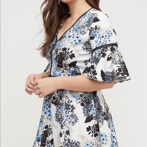 Lane Bryant Embroidered Fit and Flare Dress